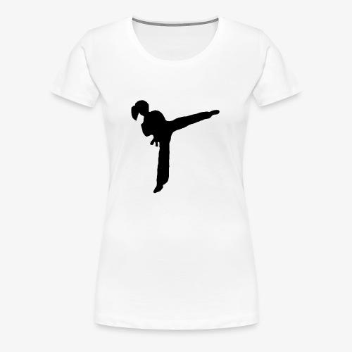 Girl Kicking - Women's Premium T-Shirt