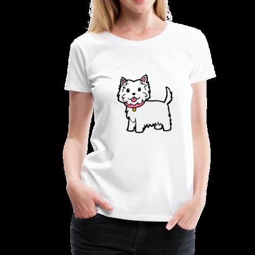 Cute Westie Dog - Women's Premium T-Shirt