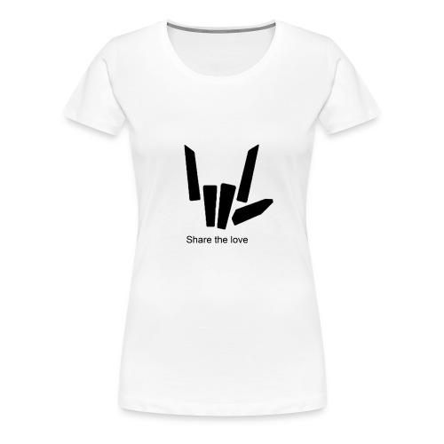Share the love - Women's Premium T-Shirt