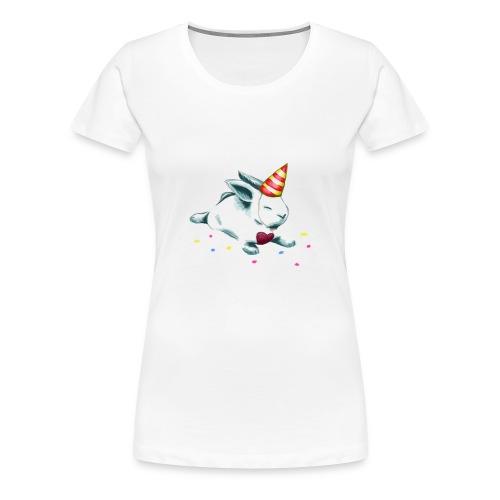 Birthday Bunny (or Unicorn Bunny) - Women's Premium T-Shirt