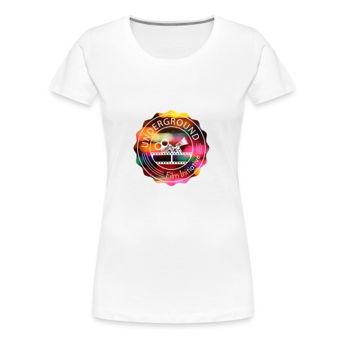 Underground_Film_Initiative_Logo_Colour_Pop_Bokeh - Women's Premium T-Shirt