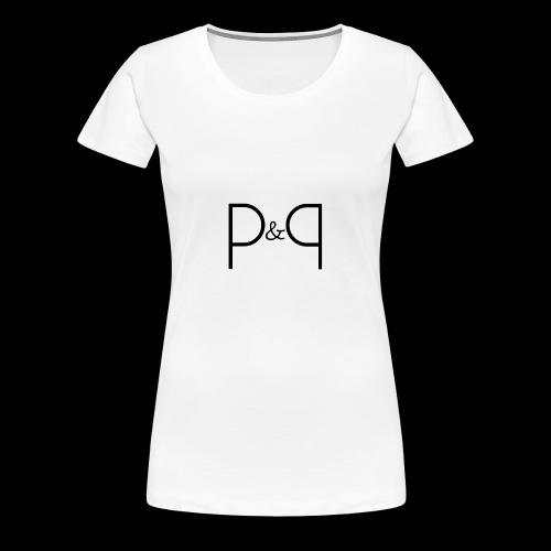 Phoebe & Petard Logo (Initials) - Women's Premium T-Shirt