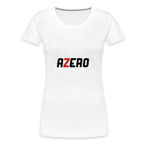 Azero Red & White Logo - Women's Premium T-Shirt