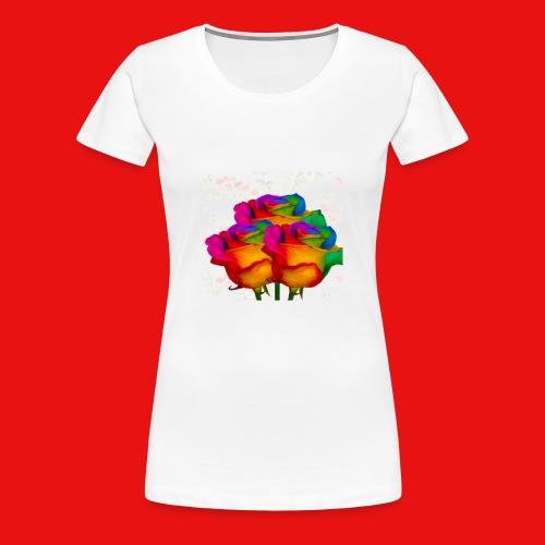 Rainbow Roses - Women's Premium T-Shirt