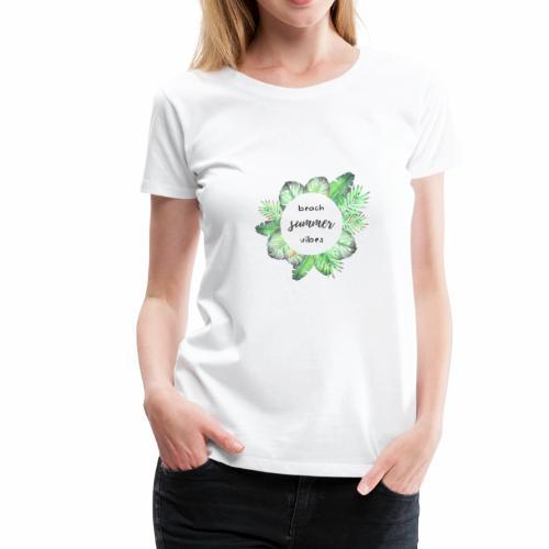 beach vibes - Women's Premium T-Shirt