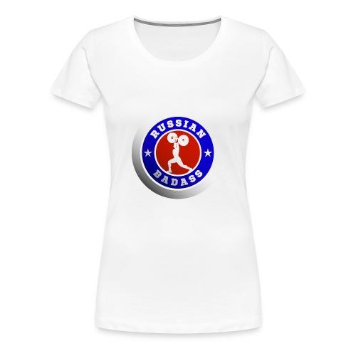 RUSSIAN BADASS POWER LIFTER - Women's Premium T-Shirt