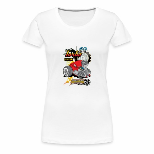 TURBO STREET RACE - Women's Premium T-Shirt