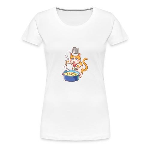 Kitty cat chef - Women's Premium T-Shirt