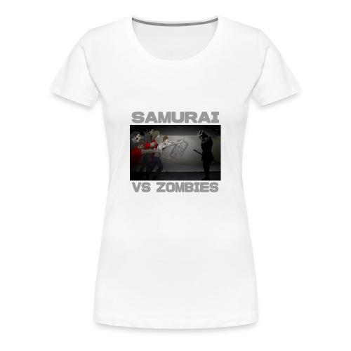 Samurai vs Zombies - Women's Premium T-Shirt