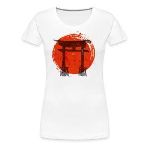Premium Japanese Artistic Temple Watercolor Shirt - Women's Premium T-Shirt