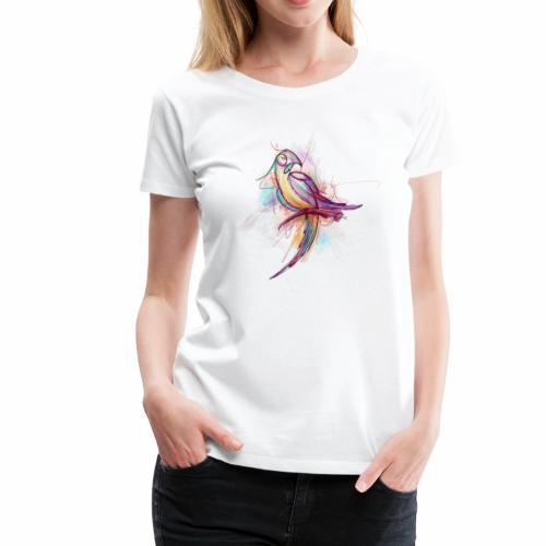 Rough Sketch Bird - Women's Premium T-Shirt