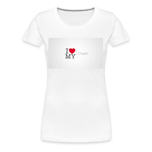 I love church - Women's Premium T-Shirt
