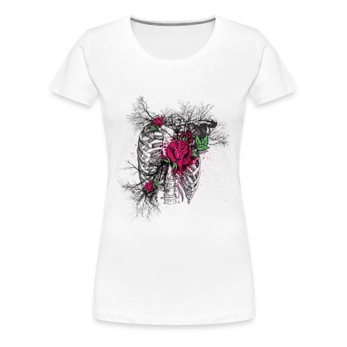 Skeleton Rose - Women's Premium T-Shirt