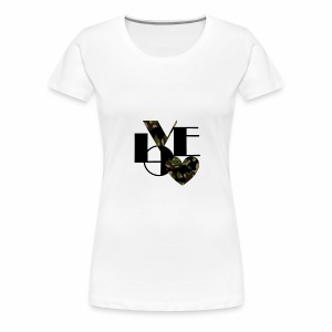 Love Black and Camouflage - Women's Premium T-Shirt