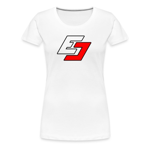 EavesDrop ED logo (White + Red) - Women's Premium T-Shirt