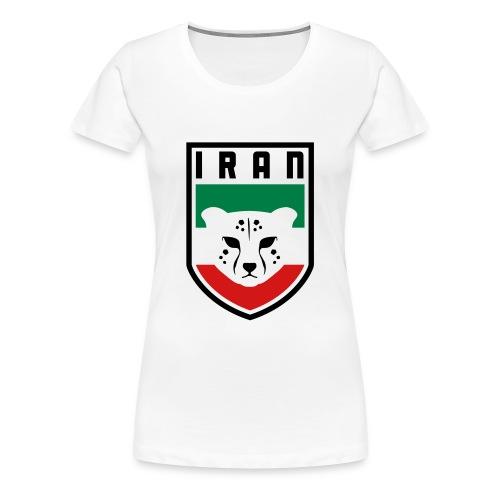 Iran Cheetah Badge - Women's Premium T-Shirt
