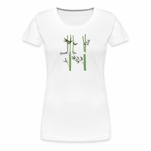 Growth Is Zen - Women's Premium T-Shirt