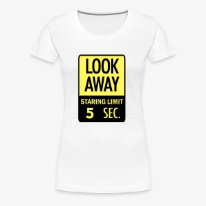 LOOK AWAY Yellow - Women's Premium T-Shirt