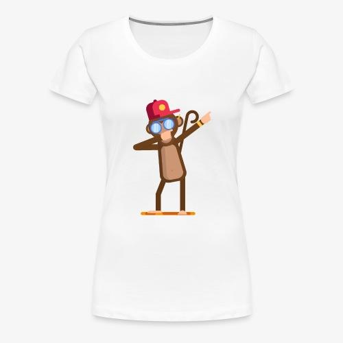 Animal doing dabbing movement - monkey - Women's Premium T-Shirt