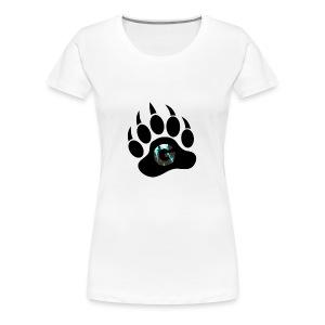 Geodine's Zombie Paw logo - Women's Premium T-Shirt