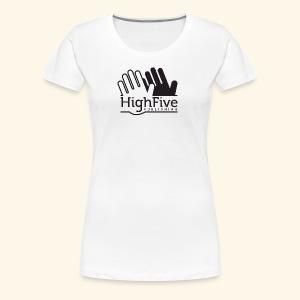 High Five Publishing Logo - black - Women's Premium T-Shirt