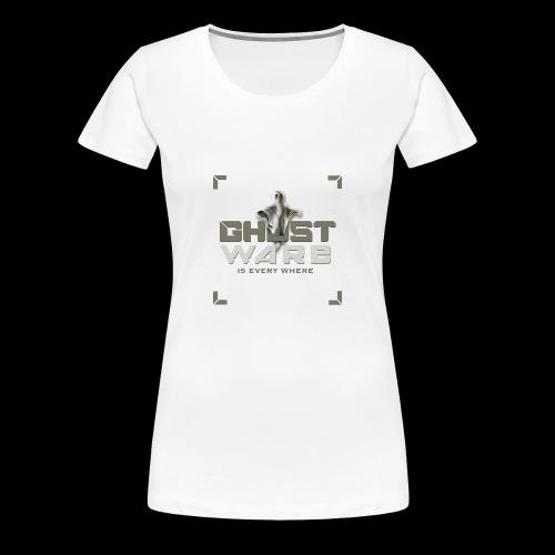 Ghostware Square Logo - Women's Premium T-Shirt