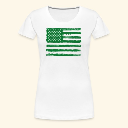 Free Denizens Legalize It US Cannabis Flag - Women's Premium T-Shirt