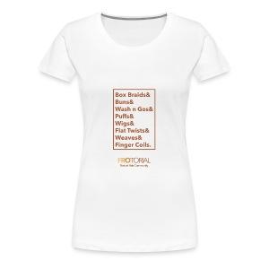 Natural Hair Styles - Women's Premium T-Shirt