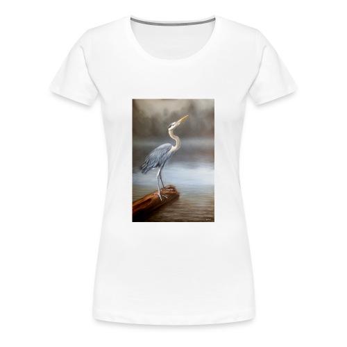 Blue Heron Wildlife Painting Print - Women's Premium T-Shirt