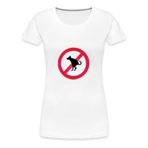 No Dog Poop - Women's Premium T-Shirt