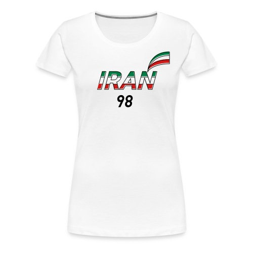 Iran's France 98 20th Anniversary Tee - Women's Premium T-Shirt