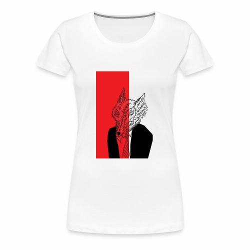 Wolf in Men's Clothing - Women's Premium T-Shirt