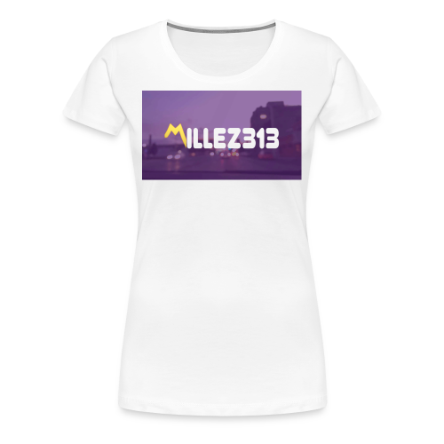 Millez313 with background Tee - Women's Premium T-Shirt