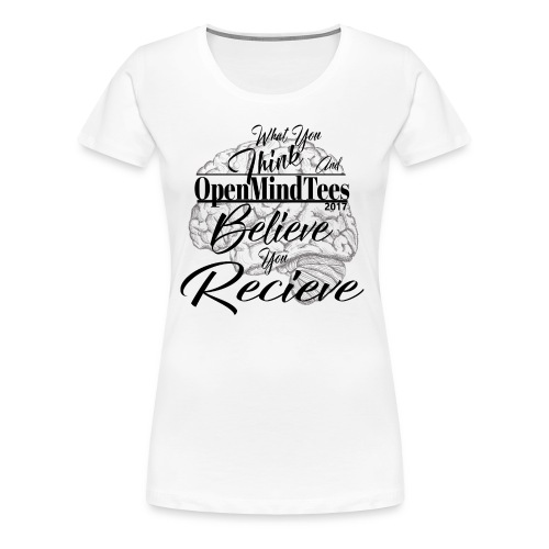 OpenMindTees logo Law Of Attraction Affirmation - Women's Premium T-Shirt