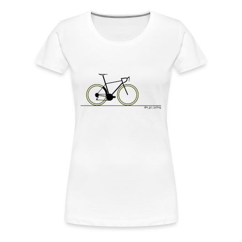Go Cycling (blk) - Women's Premium T-Shirt
