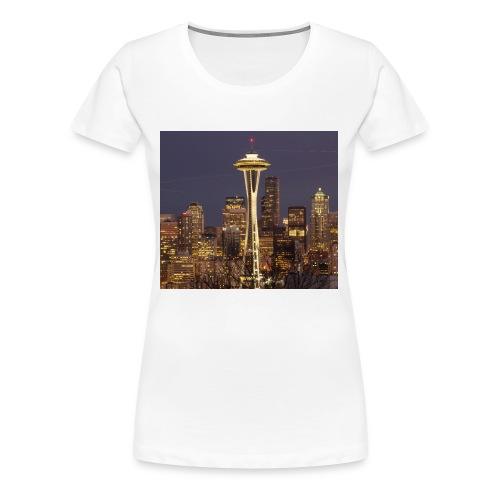 Seattle buildings - Women's Premium T-Shirt