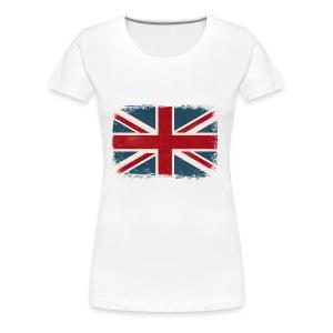 Distressed British Flag - Women's Premium T-Shirt
