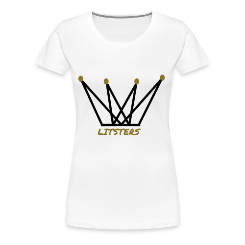 LITSTERS crown logo 1 - Women's Premium T-Shirt