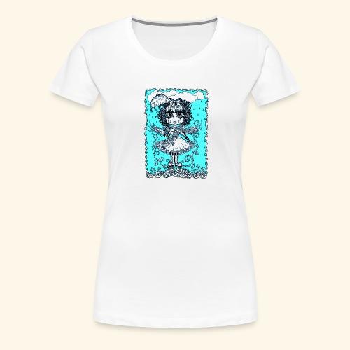 Angel in the Rain Poster - Women's Premium T-Shirt