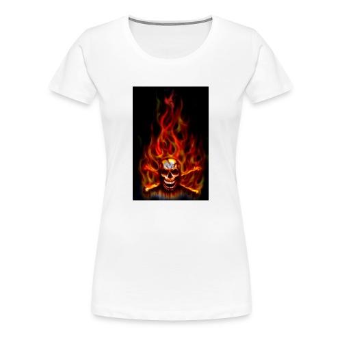 red fire skull - Women's Premium T-Shirt