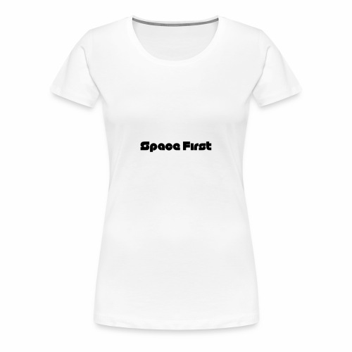 Space First Logo (words only) - Women's Premium T-Shirt