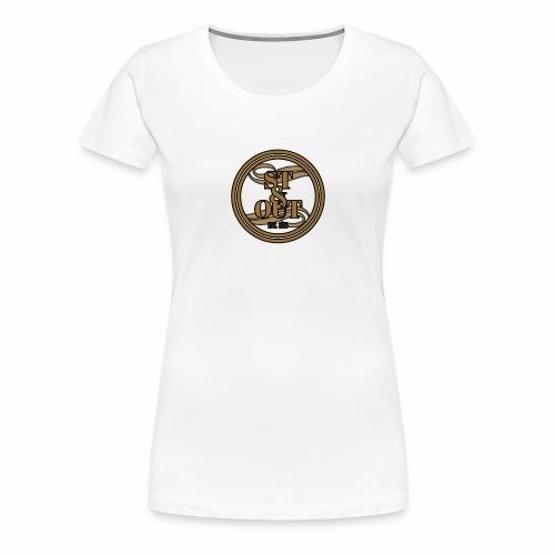 1St OutLogo Gold copy - Women's Premium T-Shirt