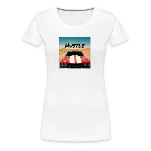 Chevelle With Text Reading Hustle - Women's Premium T-Shirt