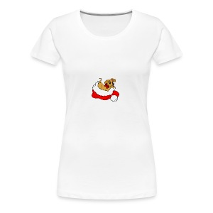 dog_xmas_color - Women's Premium T-Shirt