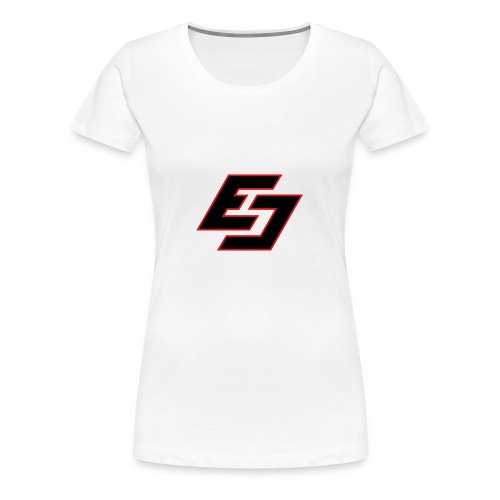 EavesDrop ED logo (Black/ red) - Women's Premium T-Shirt