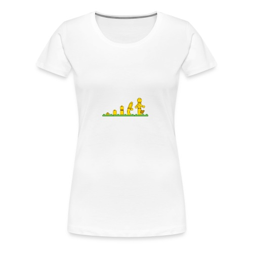 Lego Man Evolution - Women's Premium T-Shirt
