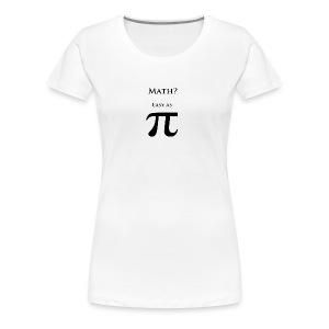 Pi Black - Women's Premium T-Shirt