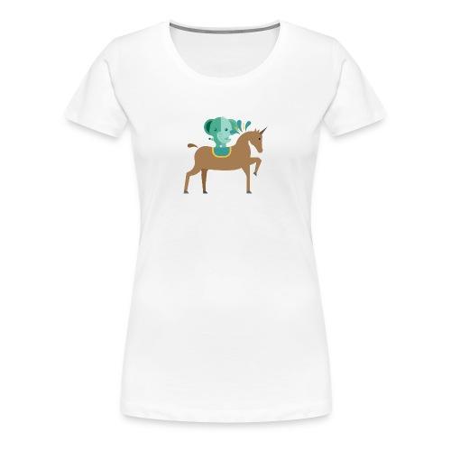 Unicorn and elephant - Women's Premium T-Shirt
