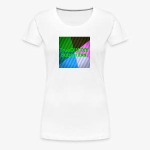15550000333333333222222266666667777777222222221234 - Women's Premium T-Shirt