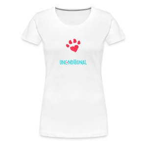 Project Unconditional Love Paw with Logo - Women's Premium T-Shirt